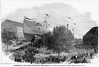 0266351 © Granger - Historical Picture ArchiveNEW YORK HARBOR: MADAWASKA.   The USS Madawaska (later the USS Tennessee), a screw frigate built of wood at the Brooklyn Navy Yard, launched on 8 July 1865. Contemporary American engraving.