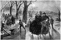 0267274 © Granger - Historical Picture ArchiveICE SKATING, 1862.   Ice skating season. Engraving, 1862.