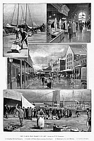 0267285 © Granger - Historical Picture ArchiveFULTON FISH MARKET.   'New York's fish market in Lent.' Illustrations by W.H. Lawrence, 1894.