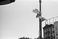 0268352 © Granger - Historical Picture ArchiveEVANS: NEW YORK, 1938.   Street signs on the corner of 61st Street and 1st Avenue in New York, New York. Photograph by Walker Evans, 1938.