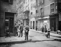 0323855 © Granger - Historical Picture ArchiveNEW YORK CITY: CHINATOWN.   The corner of Pell Street and Doyers Street in Chinatown, New York City. Photograph, c1900.