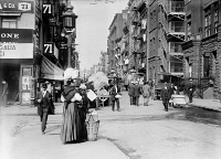 0323859 © Granger - Historical Picture ArchiveNEW YORK: LITTLE ITALY.   A street scene in Little Italy, New York City. Photograph, c1905.
