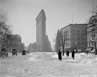 0325544 © Granger - Historical Picture ArchiveNEW YORK: FLATIRON, c1905.   View of the Flatiron Building after a snow storm in New York City. Photograph, c1905.