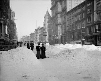 0325545 © Granger - Historical Picture ArchiveNEW YORK: 5TH AVENUE, c1905.   View of Fifth Avenue in New York City, after a snow storm. Photograph, c1905.
