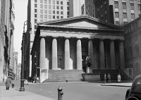 0326280 © Granger - Historical Picture ArchiveNEW YORK: FEDERAL HALL.   Federal Hall at 26 Wall Street in New York City, built in 1842. Photograph, 1937.