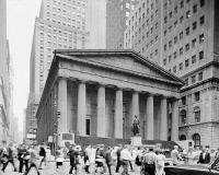 0326281 © Granger - Historical Picture ArchiveNEW YORK: FEDERAL HALL.   Federal Hall at 26 Wall Street in New York City, built in 1842. Photograph, c1970.