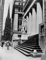 0326289 © Granger - Historical Picture ArchiveNEW YORK: FEDERAL HALL.   Federal Hall at 26 Wall Street in New York City, built in 1842. Photograph, 1937.