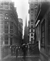 0326479 © Granger - Historical Picture ArchiveNYC: WALL STREET, c1905.   A view down Wall Street in New York City. Photograph, c1905.