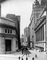 0326485 © Granger - Historical Picture ArchiveNEW YORK: BROAD STREET.   A view of Broad Street from Wall Street in New York City; the curb market can be seen in the background. Photograph, c1911.