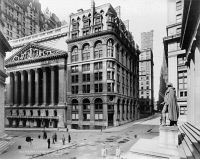 0326490 © Granger - Historical Picture ArchiveNYC: WALL STREET, c1920.   View of the New York Stock Exchange and Wilks Building on Wall Street in New York City. Photograph, c1920.