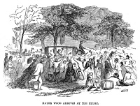 0355172 © Granger - Historical Picture ArchiveNEW YORK: TURNFEST, 1857.   The arrival of Mayor Fernando Wood at the picnic held during the German gymnastics festival known as Turnfest, in New York City, 1857. Contemporary American wood engraving.