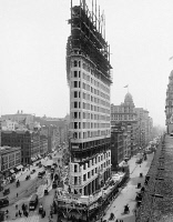 0369967 © Granger - Historical Picture ArchiveNEW YORK CITY, c1902.   The Flatiron Building under contruction in New York City. Photograph, c1902.