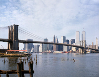 0370231 © Granger - Historical Picture ArchiveBROOKLYN BRIDGE, 1982.   A view of the Brooklyn Bridge, looking towards Manhattan. Photograph, 1982.