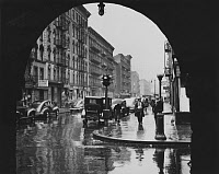 0395080 © Granger - Historical Picture ArchiveNEW YORK: EAST HARLEM.   Looking east down 110th Street from Park Avenue in East Harlem. Photograph by Al Aumuller, 25 April 1947.