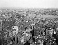 0409543 © Granger - Historical Picture ArchiveNEW YORK CITY, c1905.   A view of the city looking East from the Singer Tower, New York. Photograph, c1905.