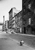 0409603 © Granger - Historical Picture ArchiveNEW YORK: WATER STREET.   View of the East side of Water Street, New York. Photograph by Walter Smalling Jr., 1981.