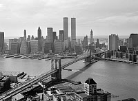 0409610 © Granger - Historical Picture ArchiveBROOKLYN BRIDGE, 1978.   Looking west towards Manhattan, New York. Photograph by Jack Boucher, 1978.