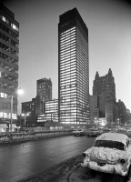 0526135 © Granger - Historical Picture ArchiveNYC: SEAGRAM BUILDING, 1958.   The Seagram Building on 375 Park Avenue in New York City. Photograph, 1958.