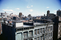 0527299 © Granger - Historical Picture ArchiveLOWER MANHATTAN, c1970.   Rooftops in Lower Manhattan. Photograph by Paul Rudolph, c1970.