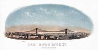 0527648 © Granger - Historical Picture ArchiveNYC: BRIDGE, 1873.   'East River Bridge, Engineer, John R. Roebling.' Lithograph, 1873.