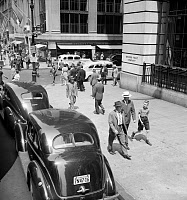 0527650 © Granger - Historical Picture ArchiveNYC: FIFTH AVENUE, 1939.   5th Avenue near 44th Street in New York City. Photograph by Dorothea Lange, July 1939.