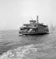 0527656 © Granger - Historical Picture ArchiveNYC: FERRY, 1939.   The ferry 'Cranford' on the East River between New York City and New Jersey. Photograph by Dorothea Lange, July 1939.