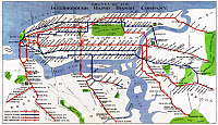 0527753 © Granger - Historical Picture ArchiveMAP: NYC SUBWAY, 1924.   Map showing the routes of the Interborough Rapid Transit Company in New York City. Lithograph, 1924.