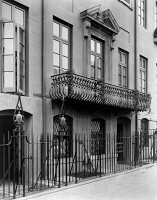 0528361 © Granger - Historical Picture ArchiveNEW YORK CITY, 1920.   The home of Charlotte Hunnewell Sorchan on East 49th Street in Turtle Bay, New York City. Photograph by Frances Benjamin Johnston, 1920.