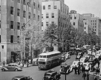 0528414 © Granger - Historical Picture ArchiveNEW YORK CITY, c1940.   Traffic on 5th Avenue at 49th Street in New York City. Photograph, c1940,