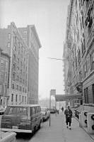 0528449 © Granger - Historical Picture ArchiveNEW YORK CITY, 1964.   A view down West 113th Street towards Riverside Drive in New York City. Photograph by Warren K. Leffler, February 1964.