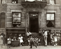 0528889 © Granger - Historical Picture ArchiveHARLEM, c1935.   Tenement houses on 133rd Street in Harlem, New York City. Photograph, c1935.