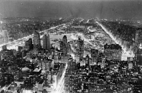 0621614 © Granger - Historical Picture ArchiveNEW YORK CITY, c1937.   Aerial view of New York City at night. Photograph, c1937.