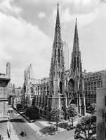 0622770 © Granger - Historical Picture ArchiveST. PATRICK'S CATHEDRAL.   The Cathedral of St. Patrick in New York City. Photograph by Irving Underhill, c1946.