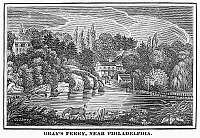 0092165 © Granger - Historical Picture ArchivePHILADELPHIA: GRAY'S FERRY.   Gray's Ferry on the Schuylkill River near Philadelphia, Pennsylvania. Wood engraving, American, c1830.