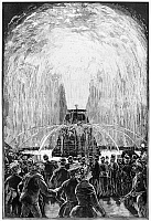 0264597 © Granger - Historical Picture ArchivePHILADELPHIA: FOUNTAIN.   'The electrical exhibition at Philadelphia - The illuminated fountain.' Engraving, c1884.