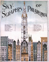 0527508 © Granger - Historical Picture ArchivePHILADELPHIA SKYSCRAPERS.   'Skyscrapers of Philadelphia.' Lithograph, c1898.