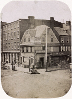 0527511 © Granger - Historical Picture ArchivePHILADELPHIA, 1854.   The old London Coffee House at the corner of Market and Front Street in Philadelphia, Pennsylvania. Photograph by Frederick De Bourg Richards, 1854.