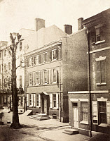 0527514 © Granger - Historical Picture ArchivePHILADELPHIA, c1855.   A view of buildings along Fourth Street at Willings Alley in Philadelphia, Pennsylvania. Photograph by Frederick De Bourg Richards, c1855.