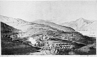 0006057 © Granger - Historical Picture ArchiveSAN FRANCISCO, 1816.   A view of the presidio at San Francisco, California, in the fall of 1816. Lithograph, French, 1822, after a drawing by Louis Choris.