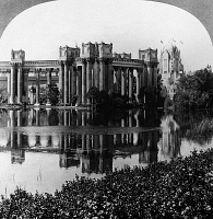 0127326 © Granger - Historical Picture ArchivePANAMA-PACIFIC EXPOSITION.   The Palace of Fine Arts and Lagoon at the Panama Pacific International Exposition in San Francisco, California. Stereograph, 1915.
