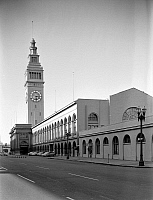 0260025 © Granger - Historical Picture ArchiveSAN FRANCISCO, 1960.   The Ferry Building on Embarcadero and Market Street in San Francisco, California. Photograph, 1960.