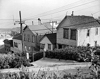 0260027 © Granger - Historical Picture ArchiveSAN FRANCISCO, 1940.   Filbert Street on Telegraph Hill in San Francisco, California. Photograph, 1940.