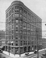 0353430 © Granger - Historical Picture ArchiveMISSOURI: ST. LOUIS, c1890.   The Globe-Democrat Building in St. Louis, Missouri. Photograph, c1890.