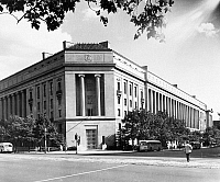 0128780 © Granger - Historical Picture ArchiveDEPARTMENT OF JUSTICE.   The main building of the United States Department of Justice, completed in 1935, in Washington, D.C. Photograph, c1975.