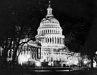 0132691 © Granger - Historical Picture ArchiveU.S. CAPITOL AT NIGHT.   The Capitol building in Washington, D.C. Photograph, c1975.