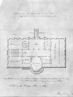 0165822 © Granger - Historical Picture ArchiveWHITE HOUSE PLAN, c1803.   Plan for the main floor of the White House by Benjamin Latrobe, c1803.