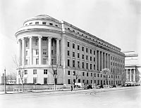 0176265 © Granger - Historical Picture ArchiveFEDERAL TRADE COMMISSION.   The Federal Trade Commission building on Pennsylvania Avenue in Washington, D.C. Photograph, 1939.