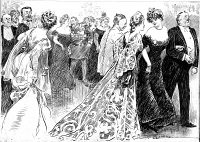 0622673 © Granger - Historical Picture ArchiveGIBSON: DIPLOMAT BALL, c1904.   Reception for diplomats in Washington, D.C. Pen and ink drawing by Charles Dana Gibson, c1904.