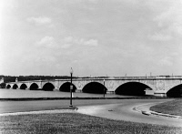0623493 © Granger - Historical Picture ArchiveD.C.: POTOMAC RIVER, 1947.   Arlington Memorial Bridge over the Potomac River in Washington, D.C. Photograph by Hirst Dillon Milhollen, 1947.