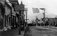 0111723 © Granger - Historical Picture ArchiveALASKA: SKAGWAY.   Fourth of July celebration at the town of Skagway, Alaska, early 20th century.